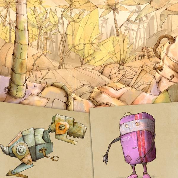 Gallerian Strömstad Illustration