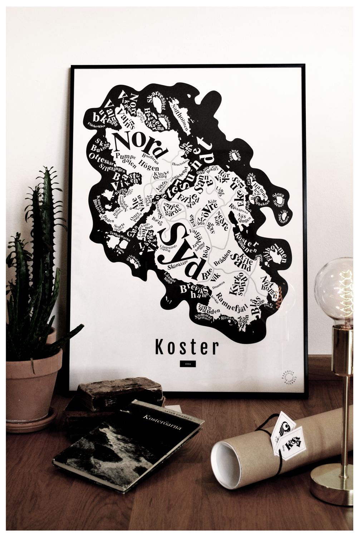 Strömstad Illustration koster karta